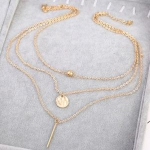 Jewelry - 3 Layer Dainty Gold Necklace